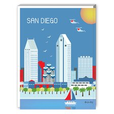 San Diego Graphic Art on Canvas