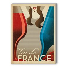 Vin de France Graphic Art on Canvas