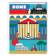 Rome Graphic Art on Canvas