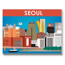 Seoul Graphic Art on Canvas