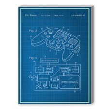 Video Game Controller Graphic Art on Canvas
