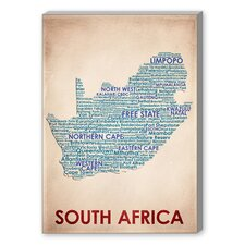 South Africa Textual Art on Canvas