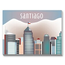 Santiago Graphic Art on Canvas