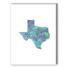 Texas Cool Textual Art on Canvas
