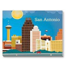 San Antonio Graphic Art on Canvas
