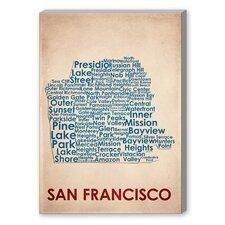 San Francisco Textual Graphic Art