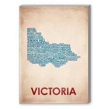Victoria Textual Art on Canvas