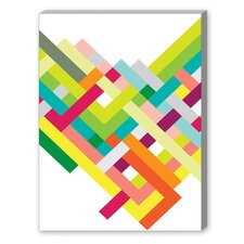 Spring Interlaced Color Lines Graphic Art on Canvas