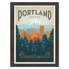 World Travel 'Portland Oregon' by Joel Anderson Vintage Advertisement