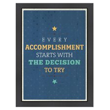 Inspirational Quotes 'Accomplishment' by Meme Hernandez Textual Art