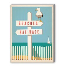 Coastal 'Beach - Rat Race' by Joel Anderson Vintage Advertisement