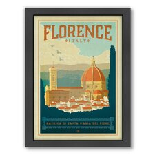 World Travel Florence Italy Framed Vintage Advertisement