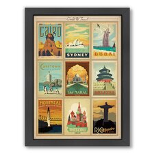 World Travel Multi 2 Framed Vintage Advertisement