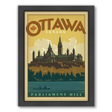 World Travel Ottawa Framed Vintage Advertisement