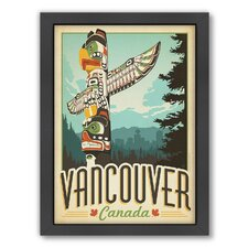 World Travel Vancouver Framed Vintage Advertisement