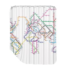City Map 2 Shower Curtain