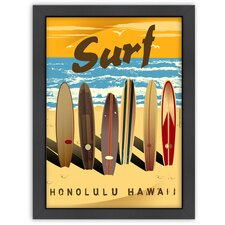 'Honolulu' by Diego Patino Vintage Advertisement