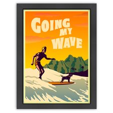 Vintage Going My Wave Poster