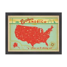 World Travel Explore America Poster