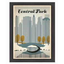 World Travel Central Park NYC Poster