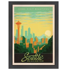 World Travel Seattle Washington Poster