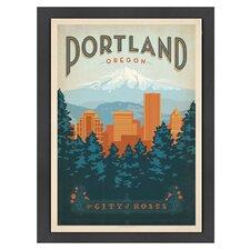 World Travel Portland Oregon Poster