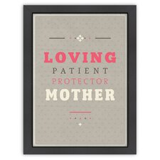 Inspirational Quotes 'Loving Mother' by Meme Hernandez Textual Art