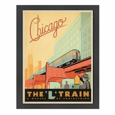 World Travel 'Chicago L Train' by Joel Anderson Vintage Advertisement