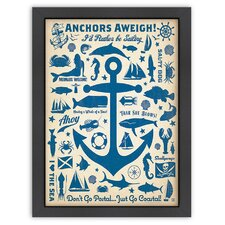 Coastal CC Anchor Pattern Print Poster