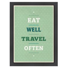 Inspirational Quotes 'Eat Travel' by Meme Hernandez Textual Art