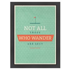 Inspirational Quotes 'Wander' by Meme Hernandez Textual Art