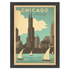 World Travel Chicago Windy City Poster