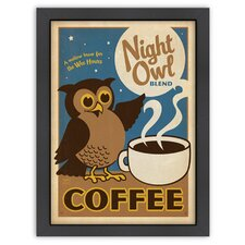 Coffee 'Night Owl' by Joel Anderson Vintage Advertisement