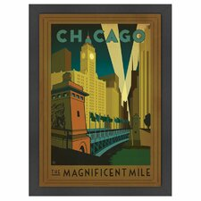 World Travel 'Chicago: Magnificent Mile' by Joel Anderson Vintage Advertisement