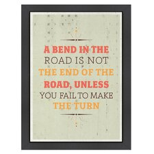 Inspirational Quotes 'Bend in the Road' by Meme Hernandez Textual Art