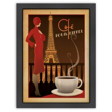 Coffee 'Café Tour Eiffel' by Joel Anderson Vintage Advertisement