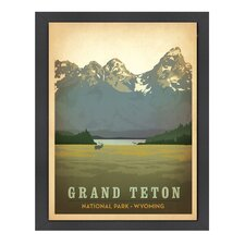 World Travel 'Grand Teton National Park' by Joel Anderson Vintage Advertisement