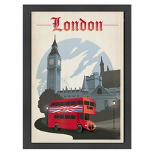 World Travel 'London' by Joel Anderson Vintage Advertisement