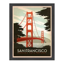 <strong>Americanflat</strong> World Travel Golden Gate Bridge Poster