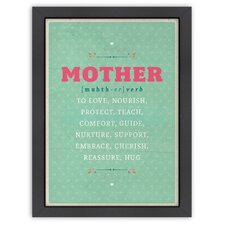 Inspirational Quotes 'Defintion of Mother' by Meme Hernandez Textual Art