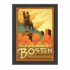 World Travel 'Boston: The Birthplace of Democracy' by Joel Anderson Vintage Advertisement