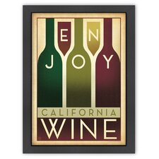 World Travel Enjoy Wine Poster