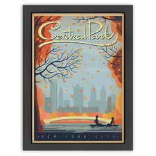 World Travel New York City Central Park Autumn Poster