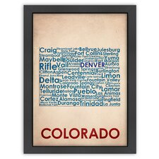 Typography Maps Colorado Poster