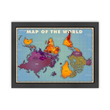 Alternative View of the World Map Poster
