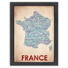 Typography Maps France Textual Art