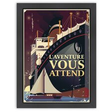 Vintage Adventure Vous Attend Poster