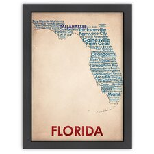 Typography Maps Florida Poster