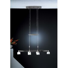 Krystall Ellipse 6 Light Chandelier