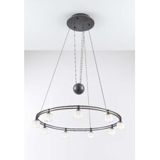 Krystall Round 9 Light Chandelier